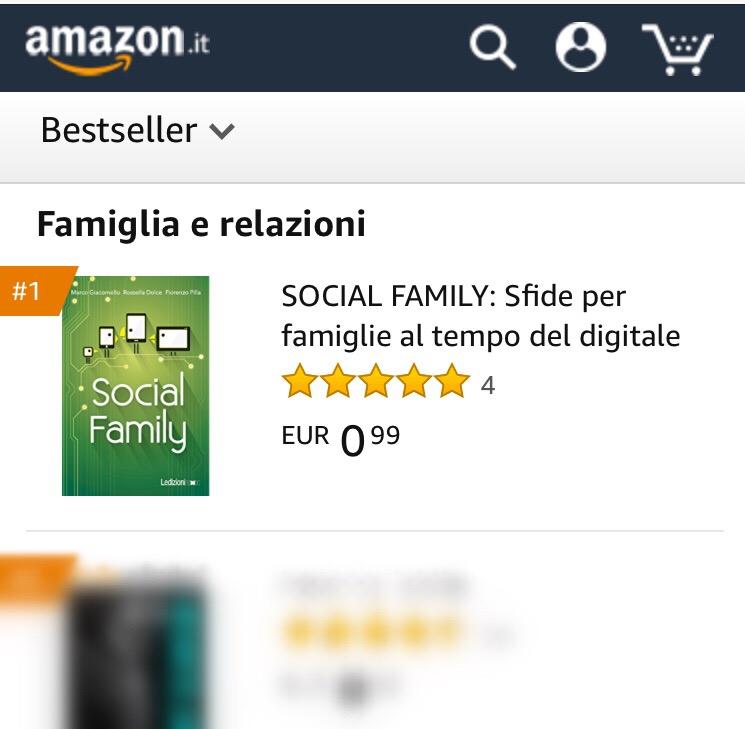 Social Family nella top 10 dei libri più venduti su Amazon...ed è primo nella categoria