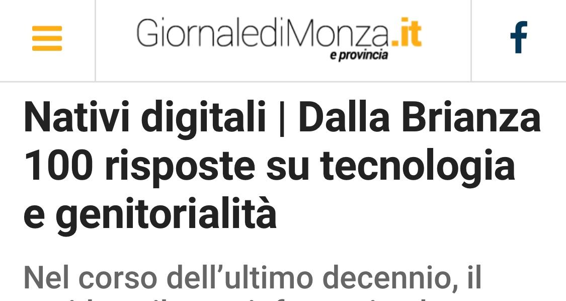 Giornale di Monza - Nativi digitali | Dalla Brianza 100 risposte su tecnologia e genitorialità